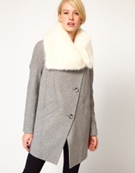 asos faux fur oversized coat 110