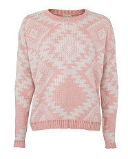 pink aztec jumper new look 19.99