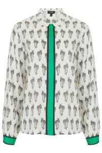 topshop zebra shirt 40