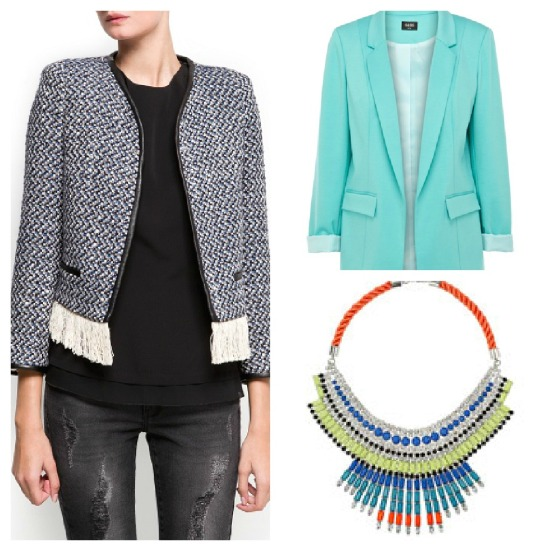 boucle and bright collage