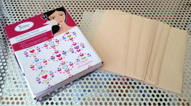 oil blotting papers