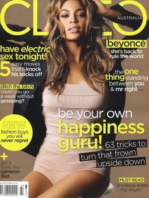 Beyoncé appears on the cover of Australia's Cleo magazine